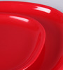 Incrizma Red Melamine Square Plates - Set Of 12