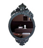 Anne Decorative Mirror in Black by Amberville