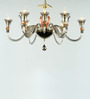 Jainsons Emporio Transparent Crystal Ekru Smokey 12 Lights Chandelier
