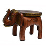 JaipurCrafts Brown Wooden Elephant Stool Showpiece