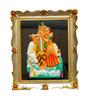 JaipurCrafts Multicolor Plastic 5.9 x 7.1 Inch Framed Radha-Krishna Showpiece