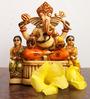 JaipurCrafts Multicolor Stoneware Ganesha with Riddhi & Siddhi Showpiece