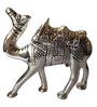 JaipurCrafts Silver Aluminium Carved Camel Showpiece