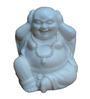 JaipurCrafts White Stoneware Beautiful Laughing Buddha