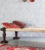 Tasarika Chaarpai Bench in Passion Mahogany Finish by Mudramark