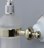 JJ Sanitaryware 1810 Golden White Brass Soap Dispenser