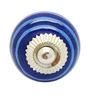 JP Hardware Blue Ceramic 1.57 Inch Door Knob - Set of 4