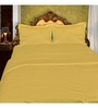 Just Linen Brown Cotton Queen Size Fitted Bedsheet - Set of 3