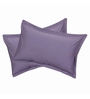 Just Linen Grey Cotton 18 x 27 Pillow Cover - Set of 2