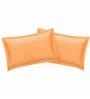 Just Linen Peach Cotton 18 x 27 Pillow Cover - Set of 2
