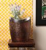 Kalaplanet Brown Metal Designer Flower Vase