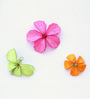 Kanhai Pink Acrylic Beads & Metal Wire Spring Candy Quirky Handcrafted Fridge Magnet - Set of 3