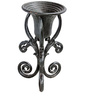 Karara Mujassme Victorian Style Hand-Crafted Antique Cast Iron Black Planter
