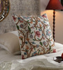 KEH Multicolour Cotton & Wool 20 x 20 Inch Scroll Cushion Cover