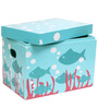 Kids Toy Storage Closed Box in Light Blue Colour by FlyFrog