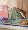 Kilner Green Glass 1000 ML Round Jar