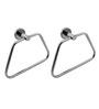 Klaxon Calibo Steel Napkin Ring Chrome Finish Set of 2 Pcs