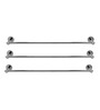 Klaxon Krysil Steel Towel Rod Chrome Finish Set of 3 Pcs