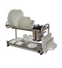 Klaxon Steel Double Shelf Multipurpose Dish Holder with Cutlery Stand