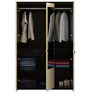 Kosmo Marina Three Door Wardrobe in Natural Wenge Color by Spacewood