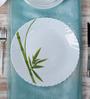 La Opal Diva Fluted Green Opal Ware Dinner Plate Set of 6