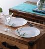 La Opala Fluted Opalware Plate - Set of 6