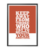Lab No.4 - The Quotography Department Paper & PU Frame 12 x 1 x 17 Inch Belittle Your Ambitions Gym Quote Framed Poster