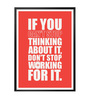 Lab No.4 - The Quotography Department Paper & PU Frame 12 x 1 x 17 Inch Don't Stop Working For It Gym Quote Framed Poster