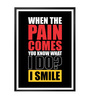 Lab No.4 - The Quotography Department Paper & PU Frame 12 x 1 x 17 Inch You Know What I Do? I Smile Gym Quote Framed Poster