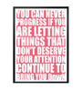 Lab No.4 - The Quotography Department Paper & PU Frame 12 x 1 x 17 Inch Your Attention Continue Bring You Down Gym Quote Framed Poster