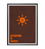 Lab No.4 - The Quotography Department Paper & PU Frame 13 x 1 x 17.5 Inch Attention Is Energy Business Quote Framed Poster