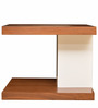 Lara Side Table in Walnut N White Colour by HomeTown