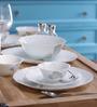 Larah by Borosil Feather Opal Glass 10-piece Dinner Set