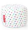 Large Cotton Canvas Star Design (Round Shaped) Ottoman with Beans by Style Homez