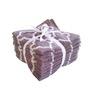 Amber Lattice Brown Cotton Face Towel - Set of 8
