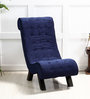 Lawrence Single Seater Sofa in Phantom Blue Color by Amberville