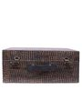 Mini Bar Leather Suitcase in Dual Tone Finish by Studio Ochre