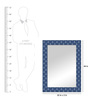 Blaque Decorative Mirror in Blue by Bohemiana