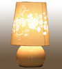 Adana Table Lamp in White by CasaCraft