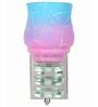 Lime Light Pink & Blue Glass & Wood Wall Lamp