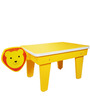 Lion Study Table in Yellow Colour by KuriousKid