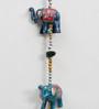 Little India Multicolour Papier Mache Rajasthani Elephant Door Hanging Handicraft