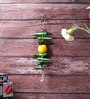 Little India Silver Metal Lemon Green Chilly Wall Hanging