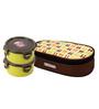 Lock&Lock Spoon Fork Brunch Flat Green Polypropylene 300 ML Lunch Box - Set of 2