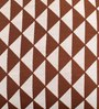 Lushomes Brown Polyester 16 x 16 Inch Jacquard Cushion Covers - Set of 2