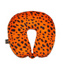 Lushomes Leopard Skin Printed Polyester Orange Neck Pillow