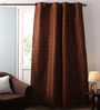 Lushomes Multicolour Jacquard 54 x 90 Inch Curtains with Lining - Set of 2