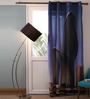 Lushomes Multicolour Polyester 54 x 90 Inch Digitally Printed Two Buildings Blackout Door Curtains - Set of 2