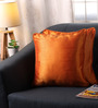 Lushomes Orange Polyester 16 x 16 Inch Colo Twinkle Star Cushion Covers with Cord Piping - Set of 2