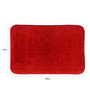 Lushomes Red Cotton 16 x 24 Bath Mat